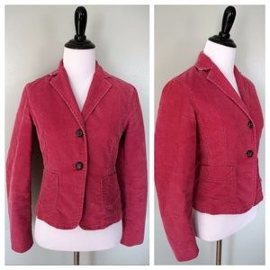 GAP Stretch Pink 2 Button Corduroy Blazer Coat 0